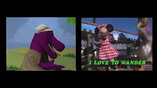 Barney & Mickey Mashup: Happy Wanderer (1B)