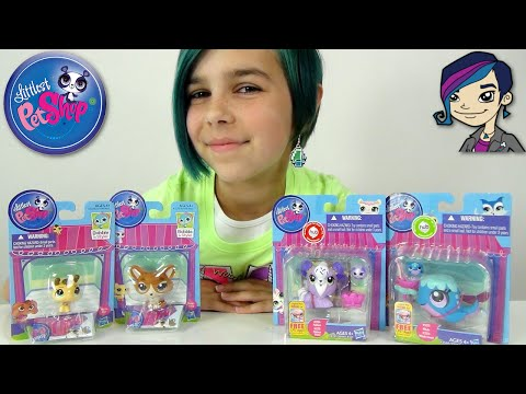 Littlest Pet Shop - LPS Bee, Corgi, Whale and Maltese with Friend Toy Review klip izle