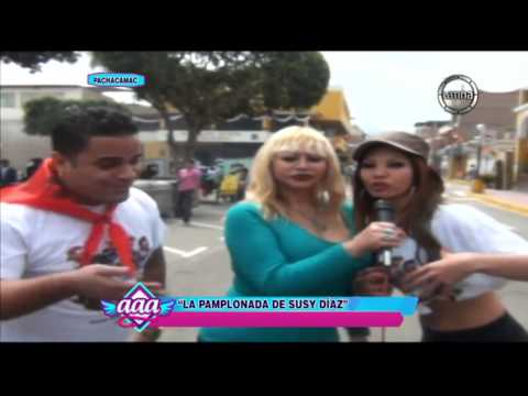 Susy Díaz y Vanessa Tello se cruzaron en la 'Pamplonada' de Pachacámac