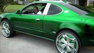 green  2dr alero on dem 24'' dub esinem