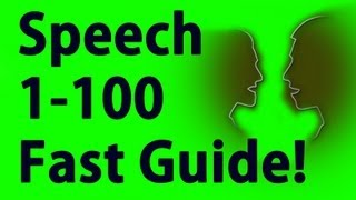 Speech 1-100 in Minutes - Skyrim Fastest way to level