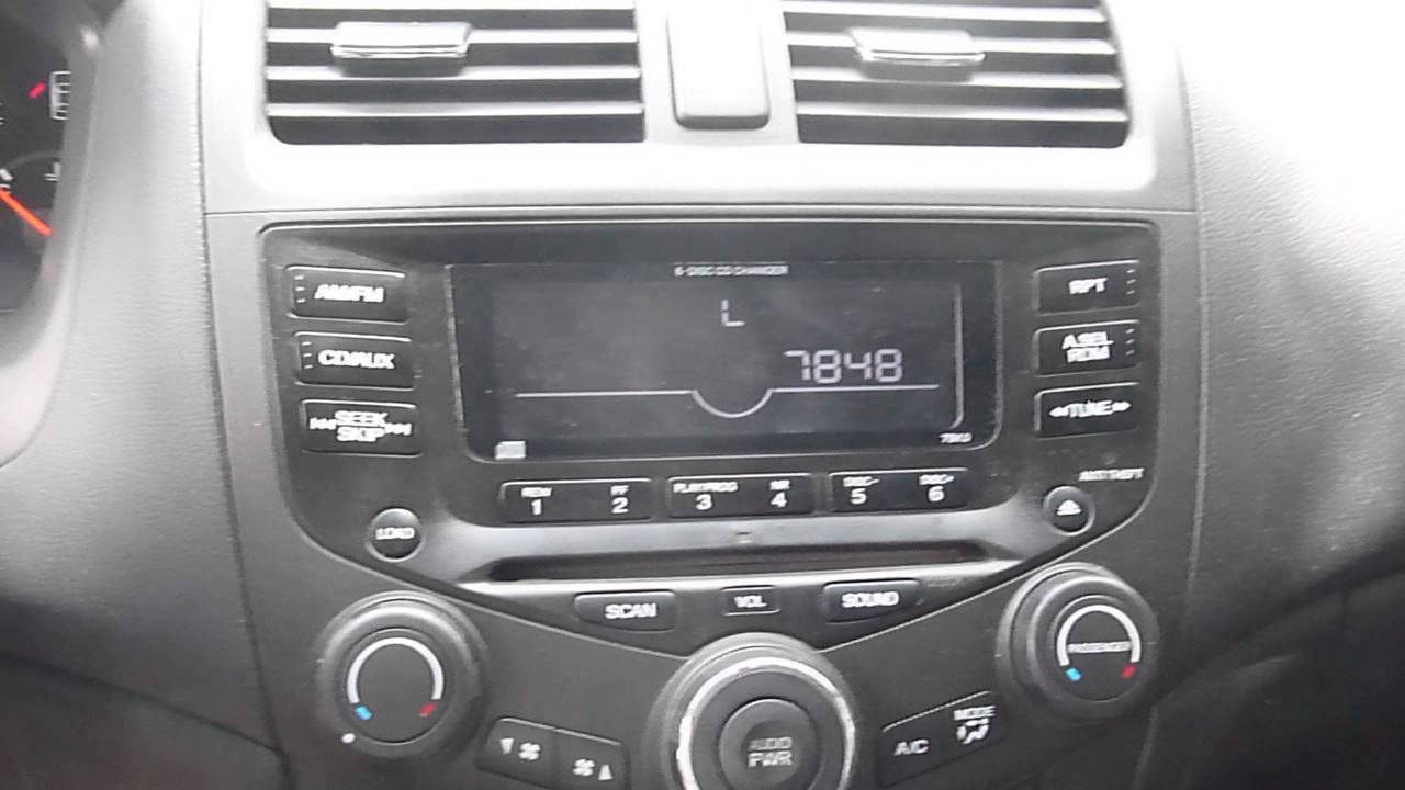 Honda Accord Radio Unlock Instructions And Codes Youtube
