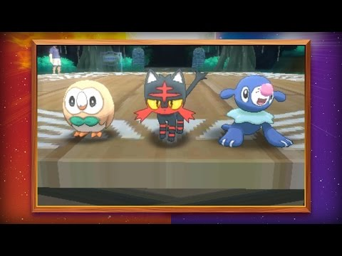 Starter Pokémon for Pokémon Sun and Pokémon Moon Revealed! thumbnail