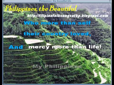 Philippines, the Beautiful - Filipino Folk Song Video Karaoke