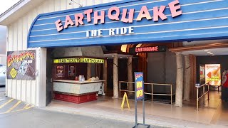 Earthquake The Ride - Full Experience / Front Seat Train Attraction Ride Thru (Multiple Times)