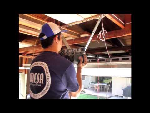 Garage Door Opener Installation - YouTube