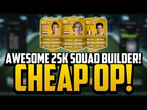 CHEAP 25K OVERPOWERED SQUAD BUILDER! | FIFA 14 Ultimate Team