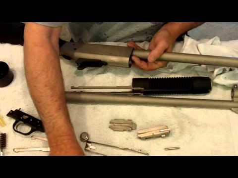 Pump Action Shotgun. Cleaning & Lubrication