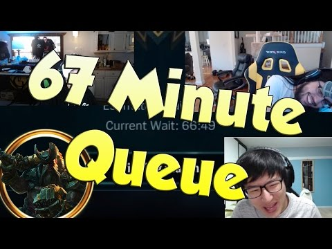 League of Legends Funny Stream Moments #5 - 67 MINUTE QUEUE...