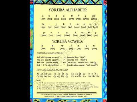 Learn to Read Yoruba Alphabets and Accents