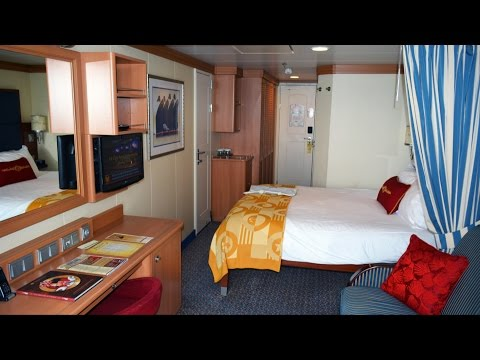 Disney Cruise Line Stateroom 9566 Room Tour on the Disney Dream - Includes Verandah View