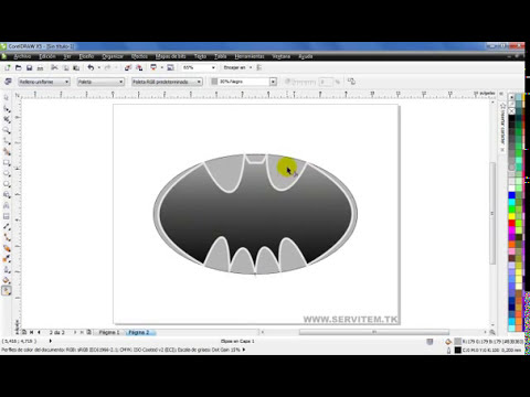Curso de CorelDraw X5 - Crear logo Batman, herramienta forma - Part 4