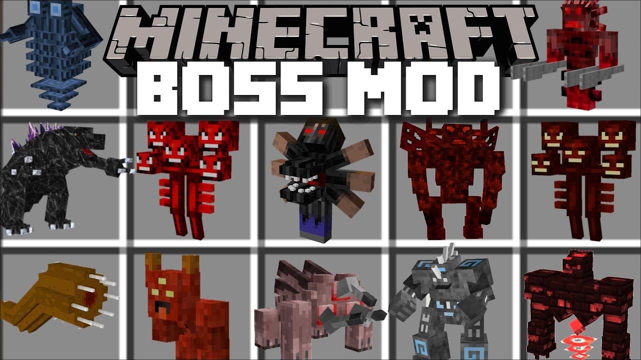 Minecraft BOSS MOD / FIGHT AND SURVIVE BOSSES BATTLES!! Minecraft