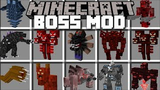 Minecraft BOSS MOD / FIGHT AND SURVIVE BOSSES BATTLES!! Minecraft