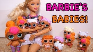 BARBIE Gets New LOL SURPRISE DOLL Sisters! Unboxing New LOL DOLLS!