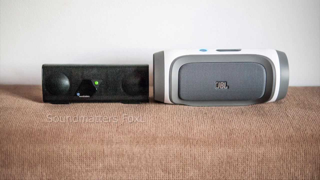 Soundmatters foxl vs jbl charge youtube for Housse jbl charge 2