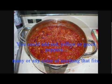 Five Bean Chili = How to make it CHEAP & EASY (from: A Bachelor's Kitchen)