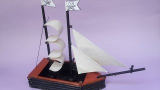 Pirates Ship | Newspaper craft -Tutorial