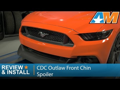 2015-2017 Mustang (GT. EcoBoost. V6) CDC Outlaw Chin Spoiler Review & Install