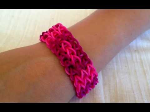 Rainbow Loom bracelet  —  Get inspired to make them yourself. Rubber bands bracelets.