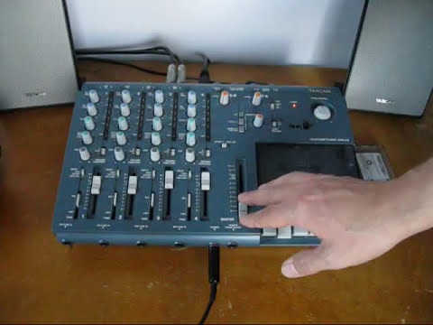 Tascam 414 mkII Portastudio Cassette with Mixdown audio Four track demo tutorial maxell XLII Ribbon