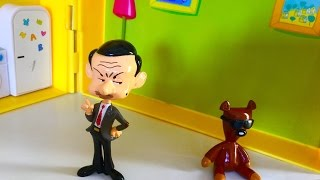 Mr Bean and Teddy in Peppa