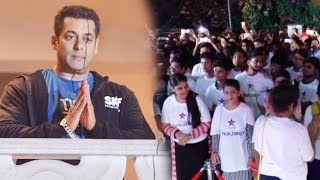 The MADNESS Outside Salman Khan's Galaxy Apartment For Tubelight Trailer!