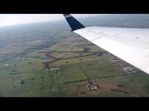 Taking off from beautiful Blue Grass Airport in Lexington Kentucky