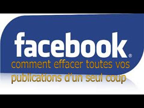 comment effacer toutes vos  publications Facebook avec un seul clic