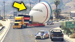 Polisi Indonesia Mengawal Truk Pengangkut Pesawat - Grand Theft Auto V