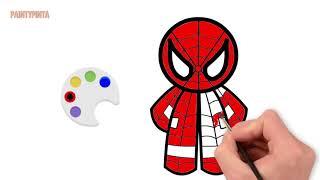 Painting Teddy Spiderman