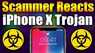 Scammer Reacts To iPhone X Trojan Pop-Up | Tech Support Scammer Trolling