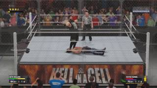 WWE Hell In A Cell 2016 - Seth Rollins VS Kevin Owens (WWE Universal Championship) Match HD
