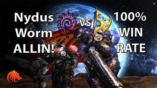 StarCraft 2: Nydus Worm 100% WIN RATE vs Protoss!