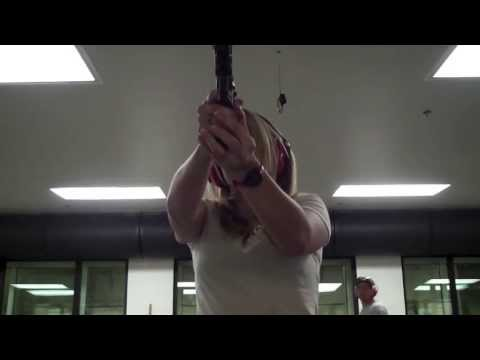 Chivette shoots a suppressed handgun for first time!