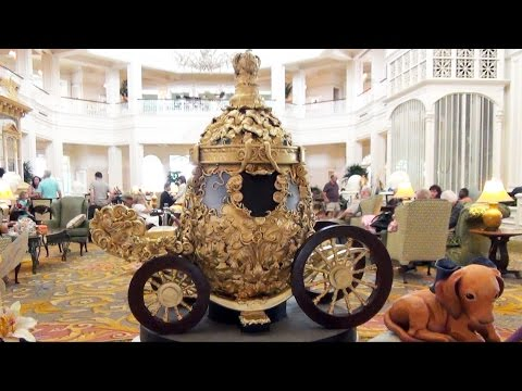 Disney's Grand Floridian Chocolate Easter Egg Display 2015 Including Elsa; Cinderella Carriage; Tink