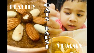 Oats Lapsi in 5 steps | Oats Lapsi in 4 ingredients | Oats Recipe | Oats Lapsi with dry fruits