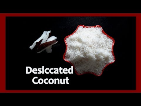 how to make desiccated coconut at home in kannada