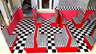 Miniature Dollhouse Diner Seats