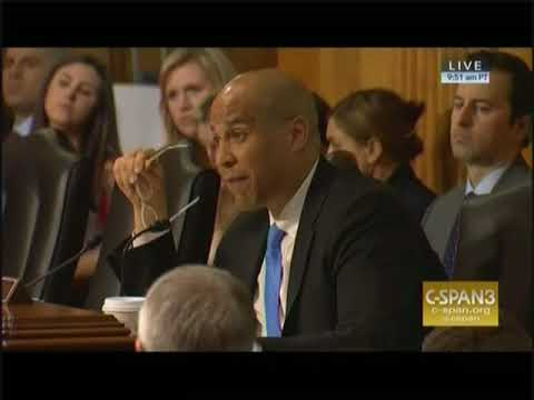 Booker questions Pompeo during confirmation hearing