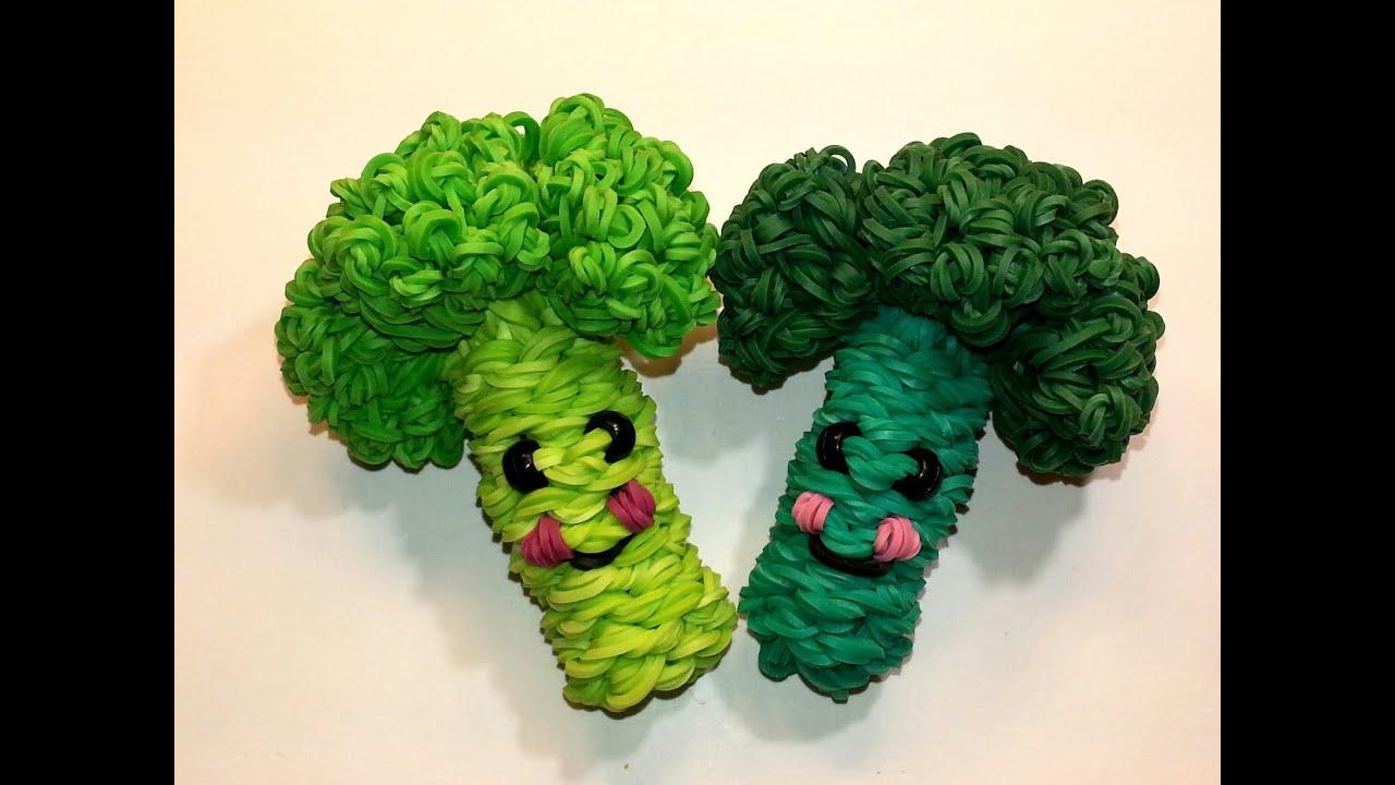 Как сделать овощи и фрукты из резинок