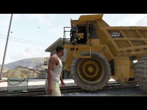 Gta 5 Dump Truck Location ▶ Gta v Dump Truck vs Train