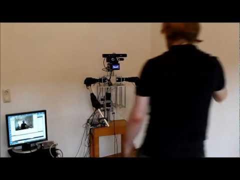 Humanoid robot imitating human arm movements