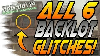 *MWR* ALL 6 WORKING Backlot GLITCHES! - Secret Spots and Jumps (Modern Warfare Remastered)