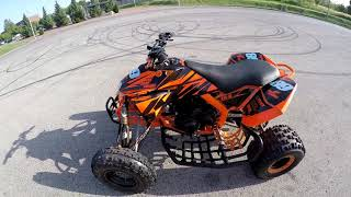 KTM 505 sx ATV / Swap ER-6  made by ASG / test Ride