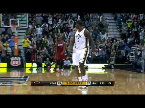 Marvin Williams Beats the Shot Clock Buzzer with a Three-Pointer!