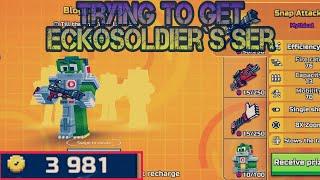 Pixel gun 3d. Trying to get Eckosoldier`s set.
