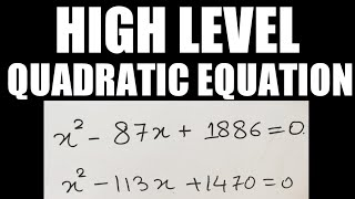 HIGH LEVEL QUADRATIC EQUATION | IBPSPOMAINS S PEHLE JARUR DEKHLNA | SOLVE IN SECONDS | PROPER ADVICE