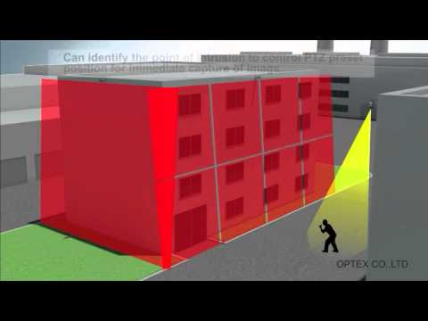 OPTEX REDSCAN- virtual wall for building protection - short video clip