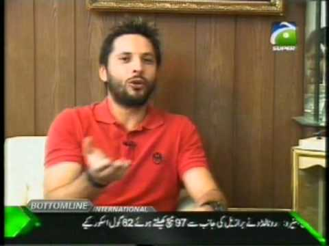shahid afridi interview before world cup 2011 on geo super part (1)